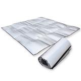 Toko Amart Outdoor Aluminum Foil Mats Dampproof Waterproof Picnic Camping Pad Size 200 200Cm Intl Murah Tiongkok