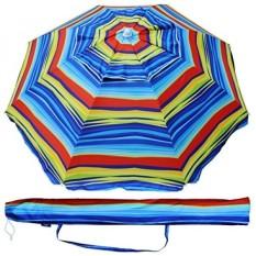 Samsung 6.5 Ft Luar Ruangan Teras Pantai Umbrella Matahari Shelter dengan Miring dan Pembawa Tas UPF 50 + Warna-warni Merah Biru -Internasional