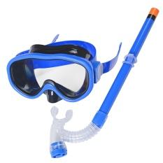 Toko Anak Anak Berenang Renang Goggle Menyelam Masker Kacamata Dengan Semi Kering Snorkeling Set Peralatan Scuba Diving Untuk 8 16 Anak Anak Usia Gelap Biru Intl Oem