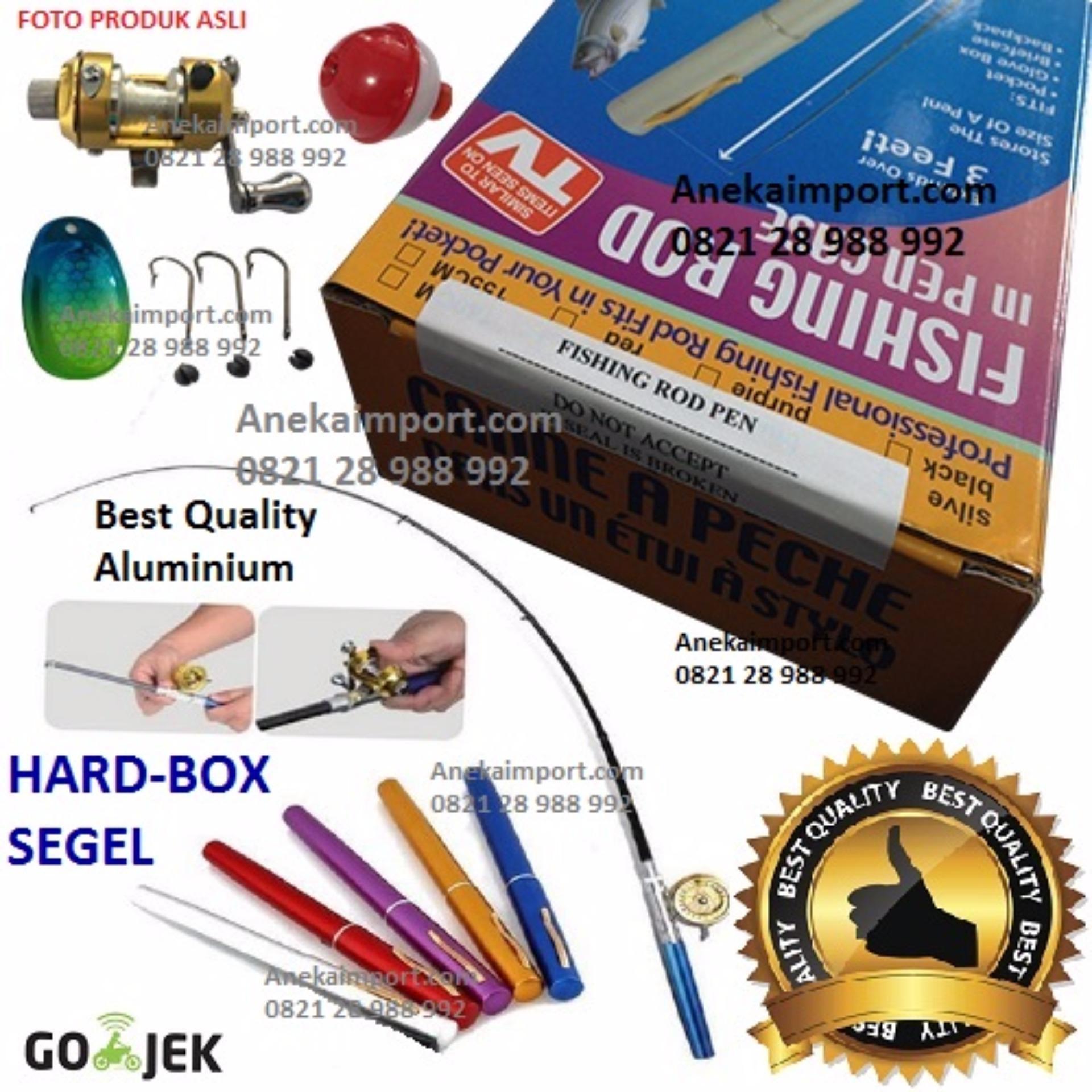 Anekaimportdotcom Alat Pancing Pena MINI 1 SET - Fishing Rod In Pen Case .