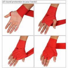 Anekaimportdotcom Boxing Hand Wraps Boxing Bandages Wrist Fist Punching - Merah