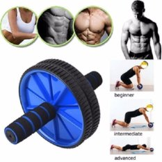 Beli Anekaimportdotcomfitness Double Wheel Gym Ab Roller Fitnes Exerciser Yoga Roller Pilates Roller Biru Yang Bagus