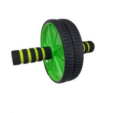 Jual Anekaimportdotcom Fitness Double Wheel Gym Ab Roller Fitnes Exerciser Yoga Roller Pilates Roller Hijau Termurah