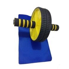 Dapatkan Segera Anekaimportdotcom Fitness Double Wheel Gym Ab Roller Fitnes Exerciser Yoga Roller Pilates Roller Kuning