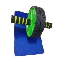 Harga Anekaimportdotcom Fitness Double Wheel Dual Roller Exercise Gym Body Slim Fitnes Double Wheel Hijau Asli Anekaimportdotcom
