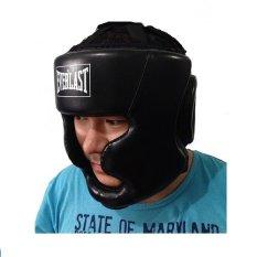 Jual Anekaimportdotcom Everlast Leather Headgear Hitam Branded Murah