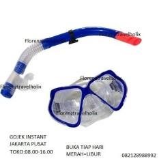 Beli Anekaimportdotcom Kacamata Snorkling Kacamata Selam Perlengkapan Renang Snorkel Set Alat Snorkling Dewasa Hijau Terbaru