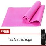 Jual Anekaimportdotcom Matras Yoga Atau Yoga Mat 6Mm Pink Gratis Tas Termurah