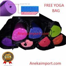 Ulasan Anekaimportdotcom Matras Yoga Yoga Mat Matras Yoga Murah Gratis Tas Hijau