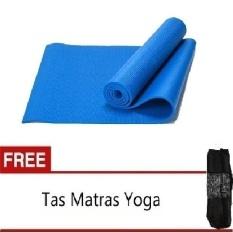 Jual Beli Anekaimportdotcom Matras Yoga Yoga Mat Pilates Mat 6Mm Biru Gratis Yoga Bag Baru Dki Jakarta
