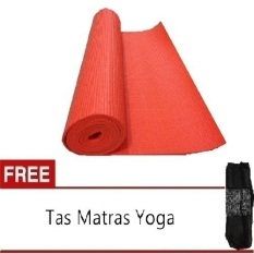 Review Anekaimportdotcom Matras Yoga Yoga Mat Pilates Mat 6Mm Orange Gratis Tas