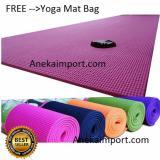 Toko Jual Anekaimportdotcom Matras Yoga Yoga Mat Pilates Mat 6Mm Pink Gratis Yoga Bag