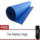 Tips Beli Anekaimportdotcom Matras Yoga Yoga Mat Pilates Mat Biru Gratis Tas