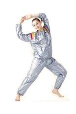 Beli Anekaimportdotcom Sauna Suit Pakaian Sauna Baju Sauna Wanita Pria Abu Abu Lengkap