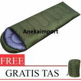Harga Anekaimportdotcom Sleeping Bag Camping Kantong Tidur Hiking Hijau Asli