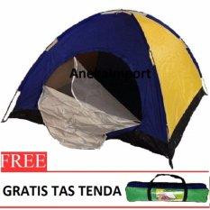 Spesifikasi Anekaimportdotcom Tenda Camping Perlengkapan Hiking Outdoor Camp Tent 2 3 Orang Bc218