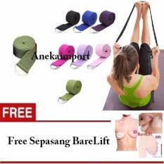 Anekaimportdotcom Yoga Belt Stretch Strap Fitness Exercise Gym Rope 180Cm Hijau Anekaimportdotcom Diskon