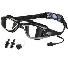 Anti-Kabut Kacamata Renang Tanpa Kebocoran Elektroplating Renang Goggle Kacamata Hitam Dengan Case Pelindung Untuk Pria Dewasa Wanita Pemuda Anak-Anak Anak (hitam) -Intl By Taopanda