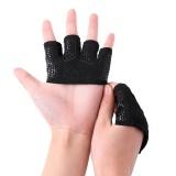 Spesifikasi Antiskid Bernapas Barbell Weightlifting Empat Jari Sarung Tangan Outdoor Olahraga Latihan Kebugaran Sarung Tangan Perlindungan Tangan Spesifikasi Hitam M
