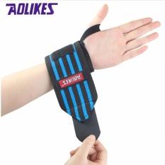 Diskon Produk Aolikes 1 Pair Wrist Support Straps Membungkus Untuk Angkat Berat Kebugaran Gym Sport Wristbands Hand Bands 3 Warna Perlu Pelatihan Intl