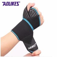 AOLIKES 2 Pcs/lot Sports Wrist Bands Wrist Support Strap Pembungkus Tangan Sprain Recovery Gelang