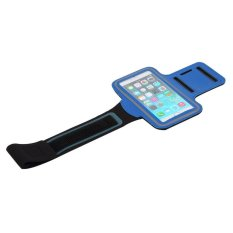 Armband Premium Sports Gym Case Cycling Running Jogging Cover Holder For iPhone 6 / 6+ / Smartphone 5.5 - (Biru)