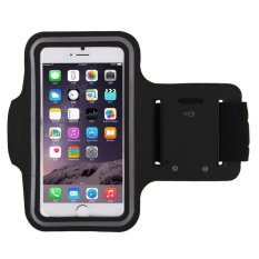 Armband Premium Sports Gym Case Cycling Running Jogging Cover Holder For iPhone 6 / 6+ / Smartphone 5.5 - (Hitam)