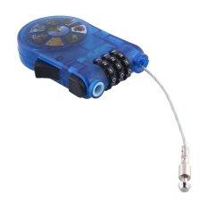 Model Aukey Kabel Sepeda Kombinasi Dapat Ditarik Helm Bagasi Kunci Kode Gembok Keselamatan Terbaru