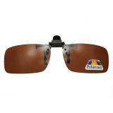 Toko Autoleader Coklat Gelap Hijau Mengemudi Terpolarisasi Membalik Badan Klip Lensa Pada Kacamata Hitam Kacamata Terdekat