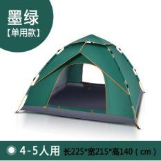 (Automatic Open) 4-5 Orang Outdoor Camping Tenda Paket Portable Travel Tenda FREE Carry Ransel-Intl