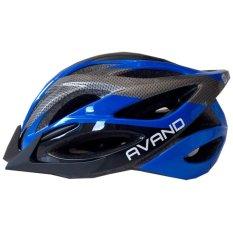Spesifikasi Avand A06 Bikes Helmet Helm Sepeda Berlampu Belakang Biru Hitam Terbaik