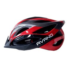 Diskon Avand A06 Bikes Helmet Helm Sepeda Berlampu Belakang Hitam Merah Akhir Tahun