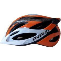 Toko Avand A06 Bikes Helmet Helm Sepeda Berlampu Belakang Orange Putih Terlengkap