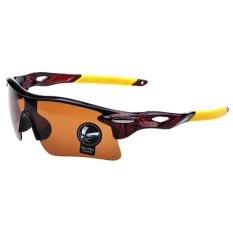 Beli Barang Azone Kualitas Tinggi Men S Outdoor Bersepeda Windproof Uv403 Sport Sunglasses Goggles Brown Online