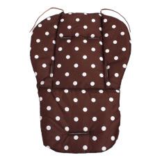 Spesifikasi Baby Infant Stroller Seat Pushchair Cushion Cotton Mat White Dot Brown