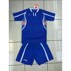 Harga Baju Kaos Badminton Stelan Dewasa Lining L 25 Biru A575Dc Lengkap