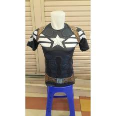 BAJU KAOS CAPTAIN AMERICA GYM FITNESS WINTER SOLDIER UNDER ARMOUR