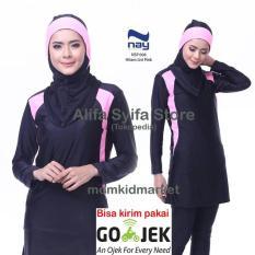 Baju Renang Wanita Muslim Muslimah Premium Dewasa Nay Nsp-008-Pink - Ea3b66