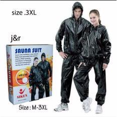 Ulasan Lengkap Baju Sauna Siken Hitam Original Size 3Xl