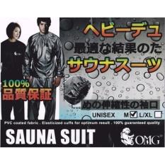 Baju Sauna Suit OMG Jaket Celana Olah Raga Pria Wanita Best Quality Baju Sauna Pembakar Lemak Lebih Cepat Pakaian Pelangsing Slimming Diet SIZE L XL