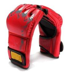 Bang Baru Mma UFC Perdebatan Bergulat Melawan Punch Ultimate Mittsleather Sarung Tangan Merah-Intl