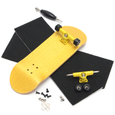 Dimana Beli Basic Complete Wooden Fingerboard Finger Scooter With Bearing Grit Box Foam Tape Yellow Intl Oem