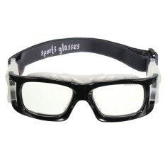Basket Bersepeda Sepak Bola Olahraga Kacamata Pelindung Mata Kacamata Pengaman (Hitam)-Intl