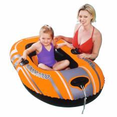 Bestway Kondor 1000 Inflatable Boat (orange) Perahu Karet Renang Anak 61099 By Sportsite.