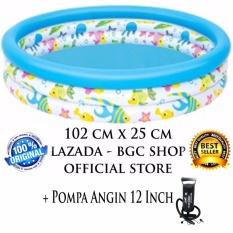 Bestway Kolam Renang Anak Ocean Life Pool K2 - 102 cm x 25 cm + Pompa Angin