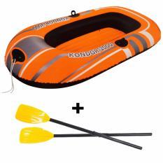 Bestway Kondor 2000 Raft Orange & Dayung Frech / Paket Perahu Dewasa 61100 By Sportsite.