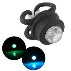 Bicycle Bike Silicone Head Rear LED Flash Warning Light Black Bright Useful - intl
