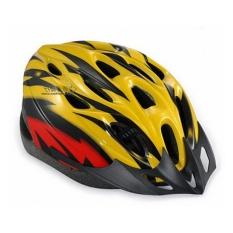 Spesifikasi Helm Sepeda Mounted Helmet Kuning Merah Intl Terbaik