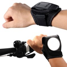 Sepeda Wrist Watch Rearview Mirror 360 ° Adjustable Wide Angle Viewfinder Intl Tiongkok