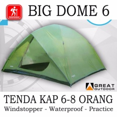 Big Dome 6 Great Outdoor Tenda 6 Orang Safety Double Layer Great Outdoor Diskon